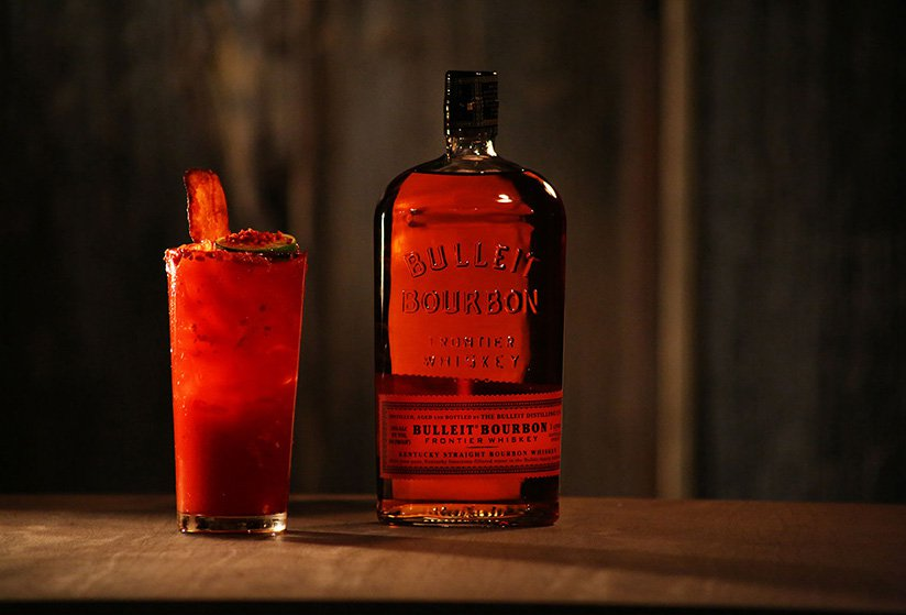 Bourbon Bloody Mary With Bacon Bulleit