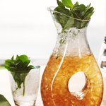 A pitcher of mint julep. Click to find our recipe for mint julep
