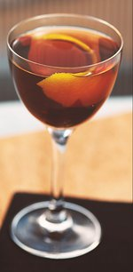 A glass of Bulleit® Rye Manhattan