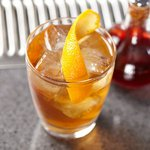 A glass of Bulleit Whiskey Sour. Click to find our recipe for Whiskey Sour